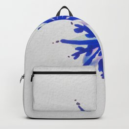 WATERCOLOR SNOWFLAKE 6 - blue and purple palette Backpack