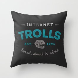 The Scourge of the Internet Throw Pillow