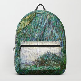 Vincent van Gogh - Wheat Field In Rain - Digital Remastered Edition Backpack