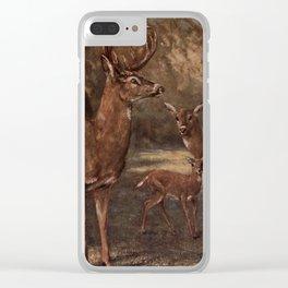Vintage Virginia Deer Painting (1909) Clear iPhone Case