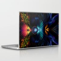 stargate Laptop & iPad Skins featuring Stargate Fractal Abstract by BohemianBound