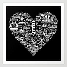 Pen Island Brewing Company Love Reverse Art Print