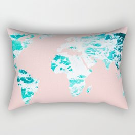Ocean World Map Sea Dreams Rectangular Pillow