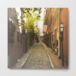 Cobbled crossroads Metal Print