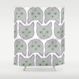 Cat Pattern Shower Curtain