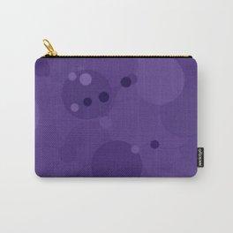 Gentian Violet Bubble Dot Color Accent Carry-All Pouch