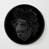 basquiat Wall Clocks featuring Basquiat by William