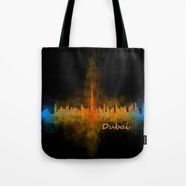 Dubai, emirates, City Cityscape Skyline watercolor art v4 Tote Bag