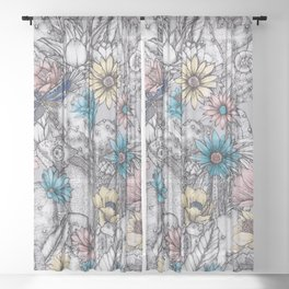 Matthew Williamson Wallpaper Cactus Garden Sheer Curtain