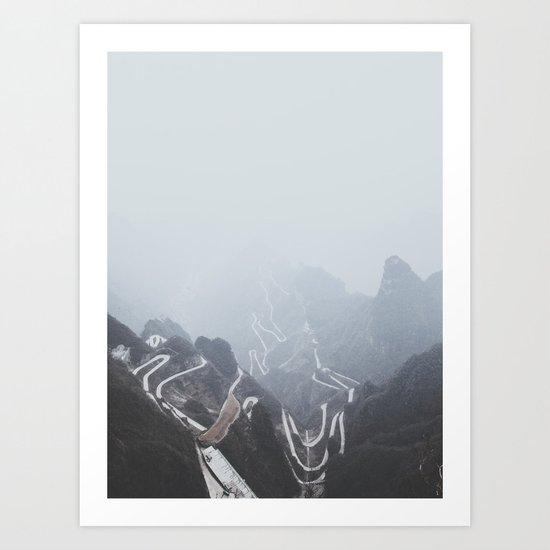 Tianmen Mountain, China Art Print