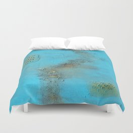 Earth. Texture. Blue. Jodilynpaintings. Brown. Abstract. Earths Crust. Duvet Cover