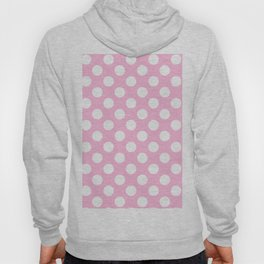 White polkadots dots polkadot circles on pink #Society6 Hoody