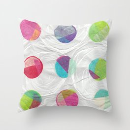 Around in Circles Throw Pillow