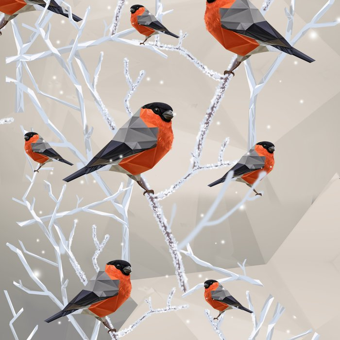 Safe transitions! // (polygonal bull-finch) Leggings