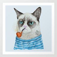 Sailor Cat I Art Print