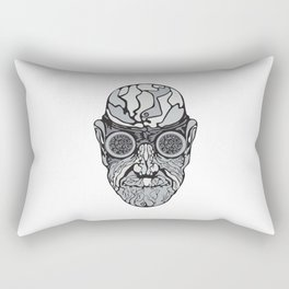 Head in the glasses. Rectangular Pillow