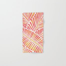 Tropical Banana Leaves – Pink & Peach Ombré Palette Hand & Bath Towel