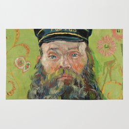 The Postman by Vincent van Gogh Rug