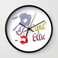 carl sagan Wall Clocks featuring Carl & Ellie by //SOLIDS//
