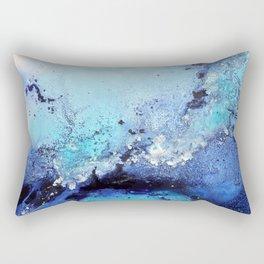 Bermuda Paradise Mixed Media Painting Rectangular Pillow