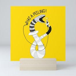 Snake singing Flashdance | Animal Karaoke | Illustration Mini Art Print