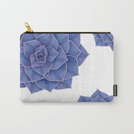 Elegant Big Purple Echeveria Design Carry-All Pouch