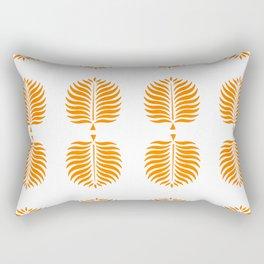 TROPICAL PALMS . TANGERINE Rectangular Pillow