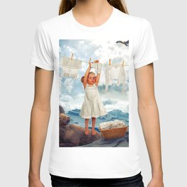 Little Girl Uses Capricorn As Clothesline Collage Ultra HD T-shirt