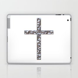 Chrome Crucifix Solid Laptop & iPad Skin