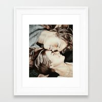 the fault in our stars Framed Art Prints featuring The Fault in Our Stars by Francesca Cosentino