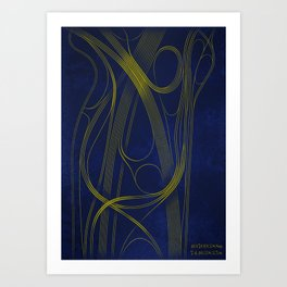 40.709N 74.163W Art Print