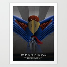 Nighthawks - TTU vs KU 9.29.16 Art Print