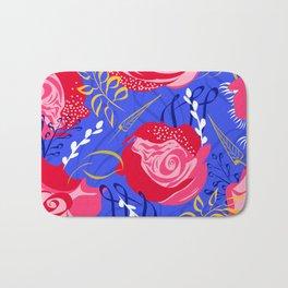 Marsala #illustration #pattern Bath Mat