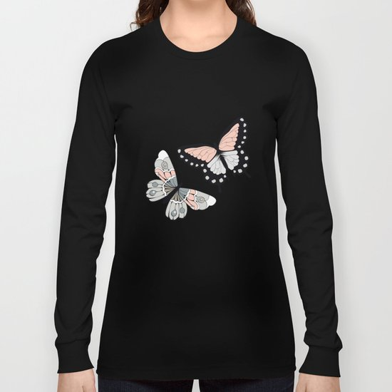 Butterfly pattern 002 Long Sleeve T-shirt