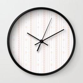 Pastel brown white bohemian arrows zigzag geometrical Wall Clock