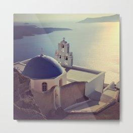 Church of Santorini Metal Print
