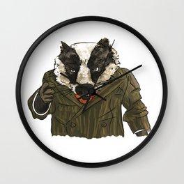 Badger (colour) Wall Clock