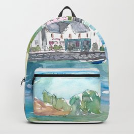 Tobermory Island of Mull Scotland Waterfront Scene Inner Hebrides Backpack