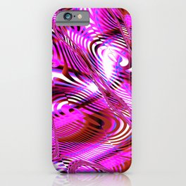 Dynamic Pink Fractal iPhone Case