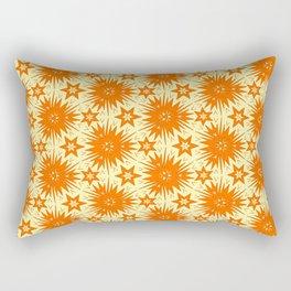 Burnt Orange Fireworks Festive Mood Native Starburst Southwestern Design Pattern Rectangular Pillow