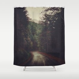 Wander inside the mountains Shower Curtain