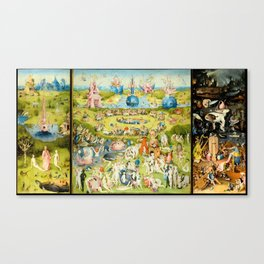 The Garden of Earthly Delights by Bosch Canvas Print