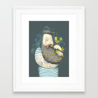 bird Framed Art Prints featuring Bird by Seaside Spirit