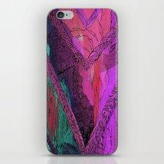Purple Chevron Trippyness iPhone Skin