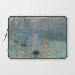 Claude Monet – Impression soleil levant – impression sunrise Laptop Sleeve
