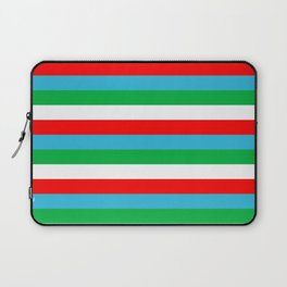Djibouti Uzbekistan Equatorial Guinea flag stripes Laptop Sleeve