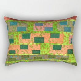 Added Color to a Colorful Wall Rectangular Pillow