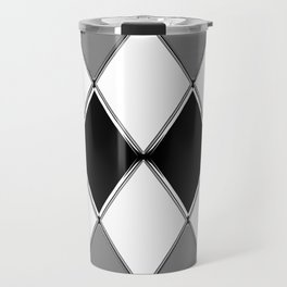 Shiny diamonds in black and white. Geometric abstract. Travel Mug