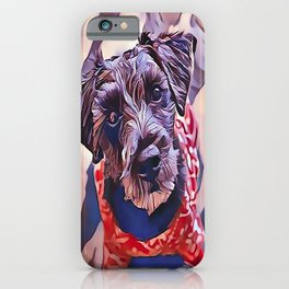 The Schnoodle - A Schnauzer Poodle Mix Breed iPhone Case