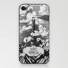 Lord of the Rings Mordor Tower Vintage Geek Art iPhone & iPod Skin